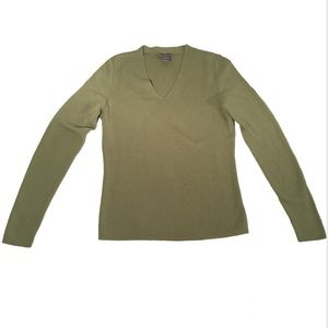 Ann Taylor Olive Green Merino Wool Sweater